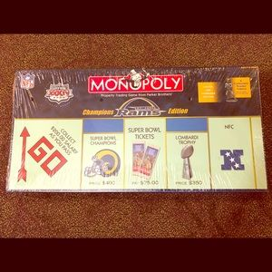 Monopoly St Louis Rams Champions Edition NFL NEW